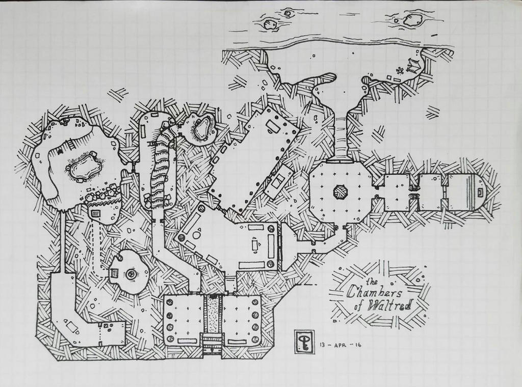 Dungeon Map (pre-effects) by NerdyGeekyDweeb