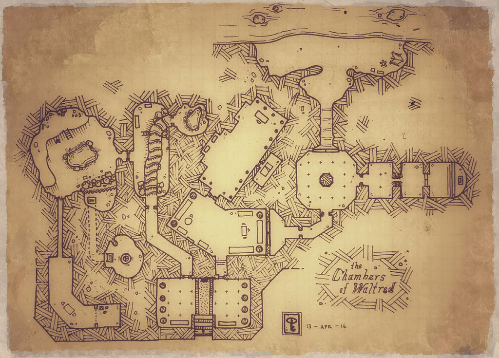 Dungeon Map Finished by NerdyGeekyDweeb