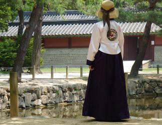 A Lady in Hanbok
