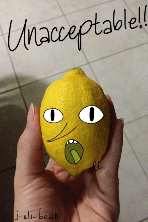 So I found a lemon in the fridge... by j-eli-bean