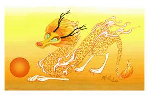 Asian Sun Dragon by snuapril01