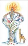 goddess of life, creation- Mawu