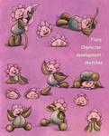 Flora-character development color pencil sketches by snuapril01