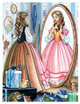 Cinderella with her mother's Dress