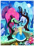 Alice in Wonderland - Alice with cheshire cat
