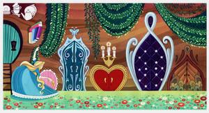 Alice in Wonderland- under the rabbit hole