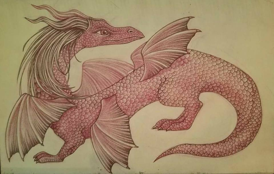 Dragon character design sketch by snuapril01