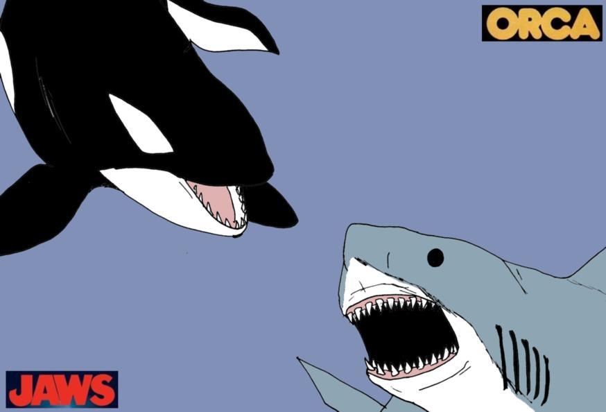 Jaws Vs  Orca II by Satan-Jyunanagou on DeviantArt
