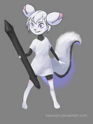 Kiki the cyber squirrel (Krita mascot)