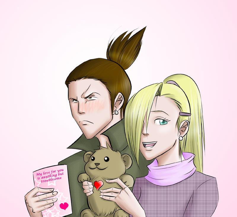 ShikaIno Valentine by ihatecollege