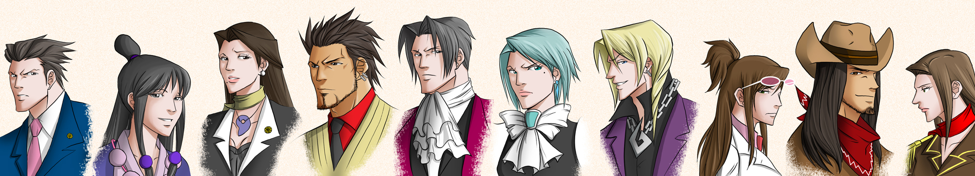 Ace Attorney Busts by ihatecollege