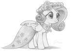 Fluttershy in her royal wedding dress