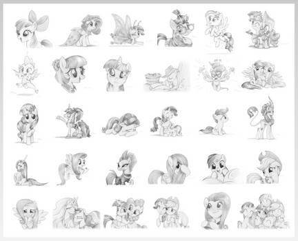 Fladdrarblyg's 30 Days of Drawing