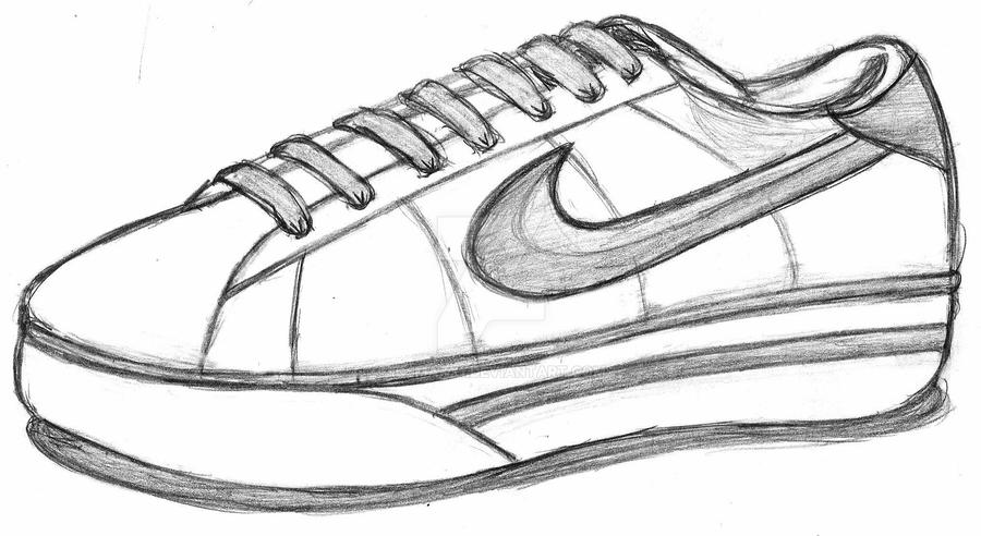 how to draw a shoe step by step nikes