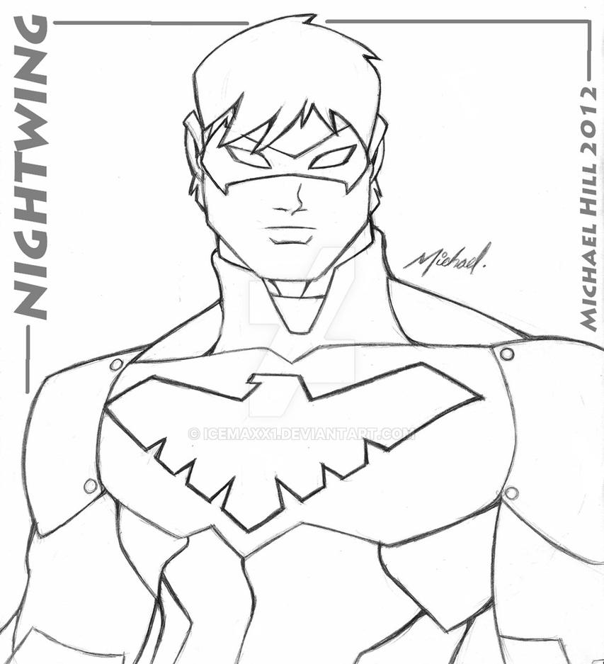 dc comics nightwing coloring pages - photo#17