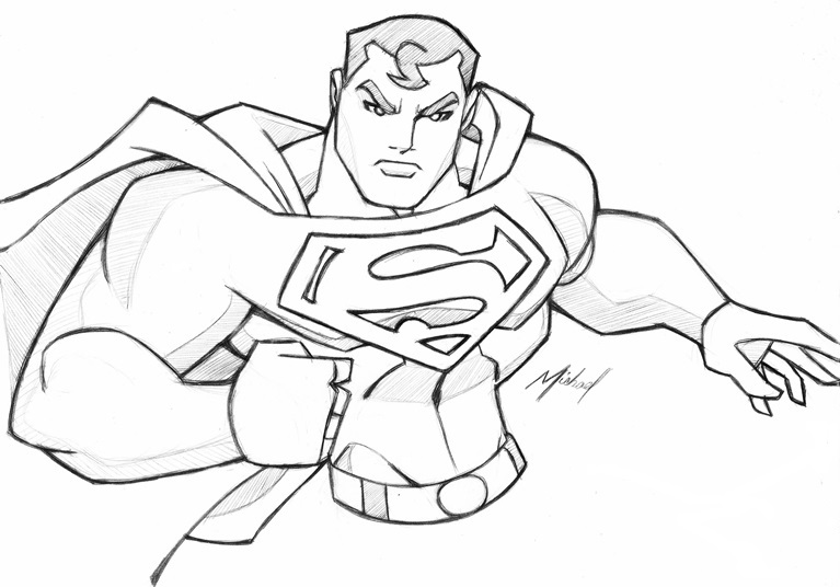 Easy Superman Drawings Sketches