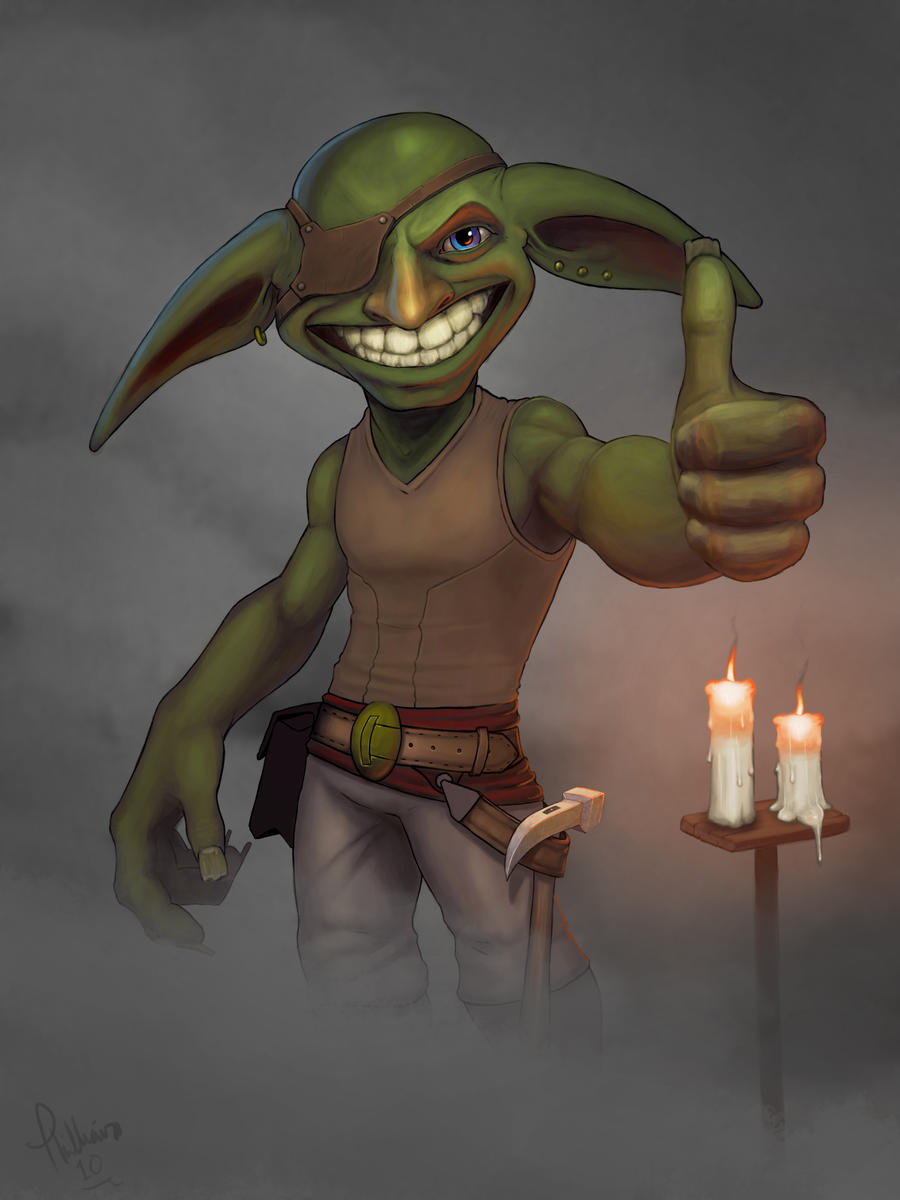 Thumbs Up Goblin by philldwill