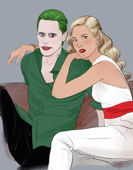 Commission: Casual Joker and Harley