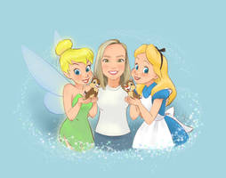Commission: Erin with Disney friends