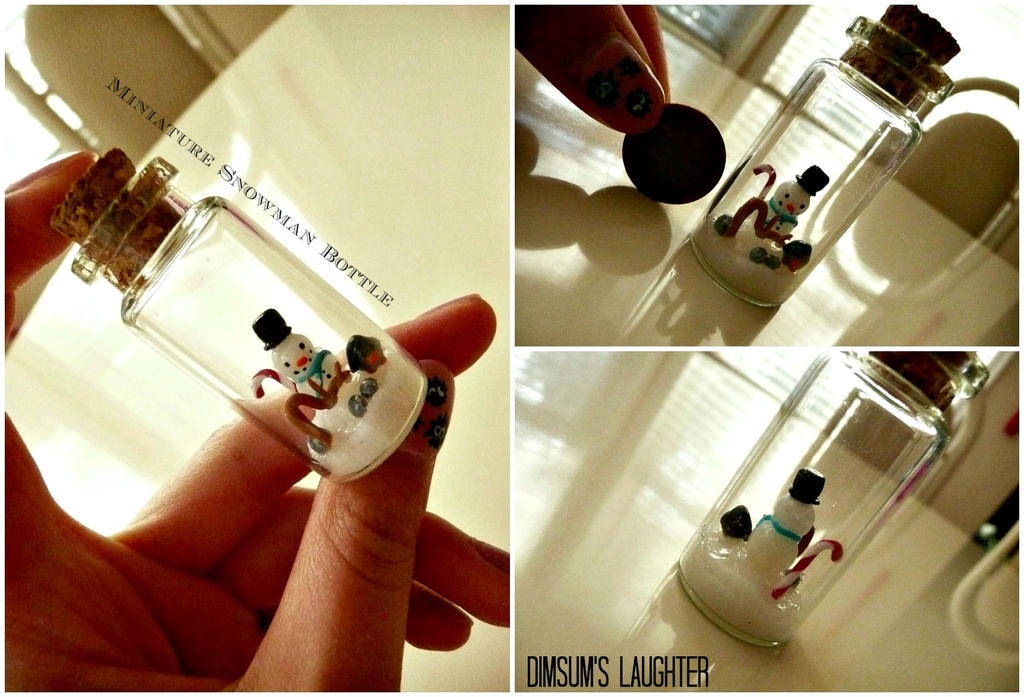 Miniature Snowman Bottle by XXSaturnNinjaSGXX