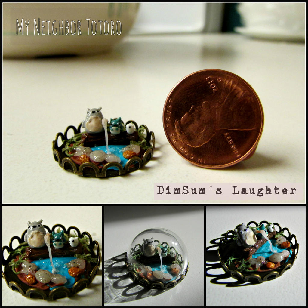 My Neighbor Totoro Miniature Glass Dome by XXSaturnNinjaSGXX
