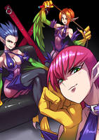 Harpie Lady Sisters by RYUSEI-R