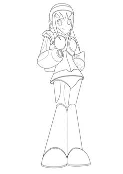 (Lineart) Mega Man X styled Midori