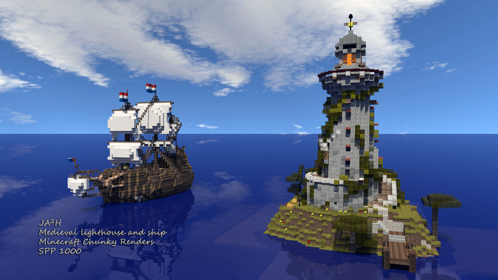 medieval_lighthouse_and_ship___improved_
