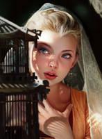 Noveland-sayson-girlwithcage-post by NovelandArt