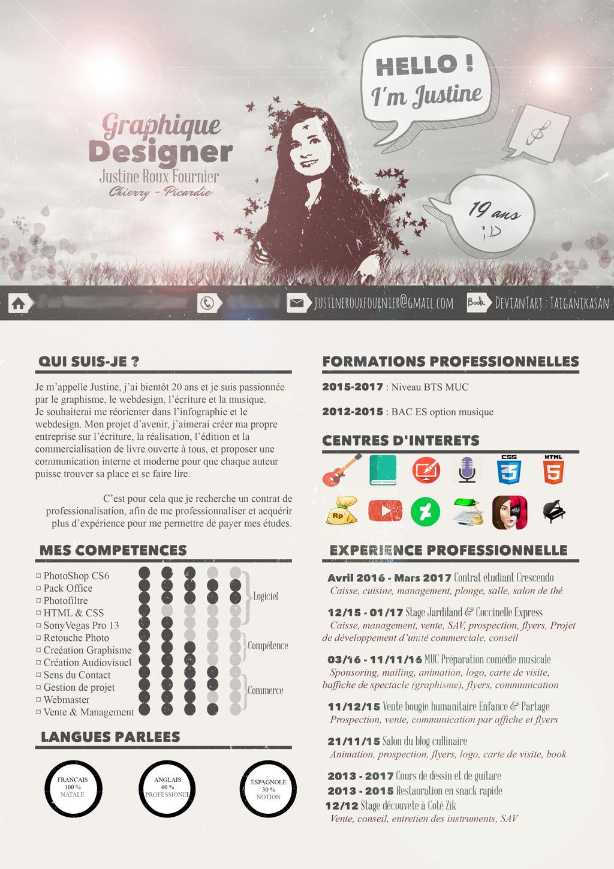 cv graphiste webdesigner by taiganikasan on deviantart