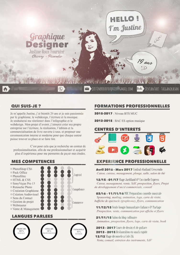 cv graphiste webdesigner by taiganikasan on deviantart