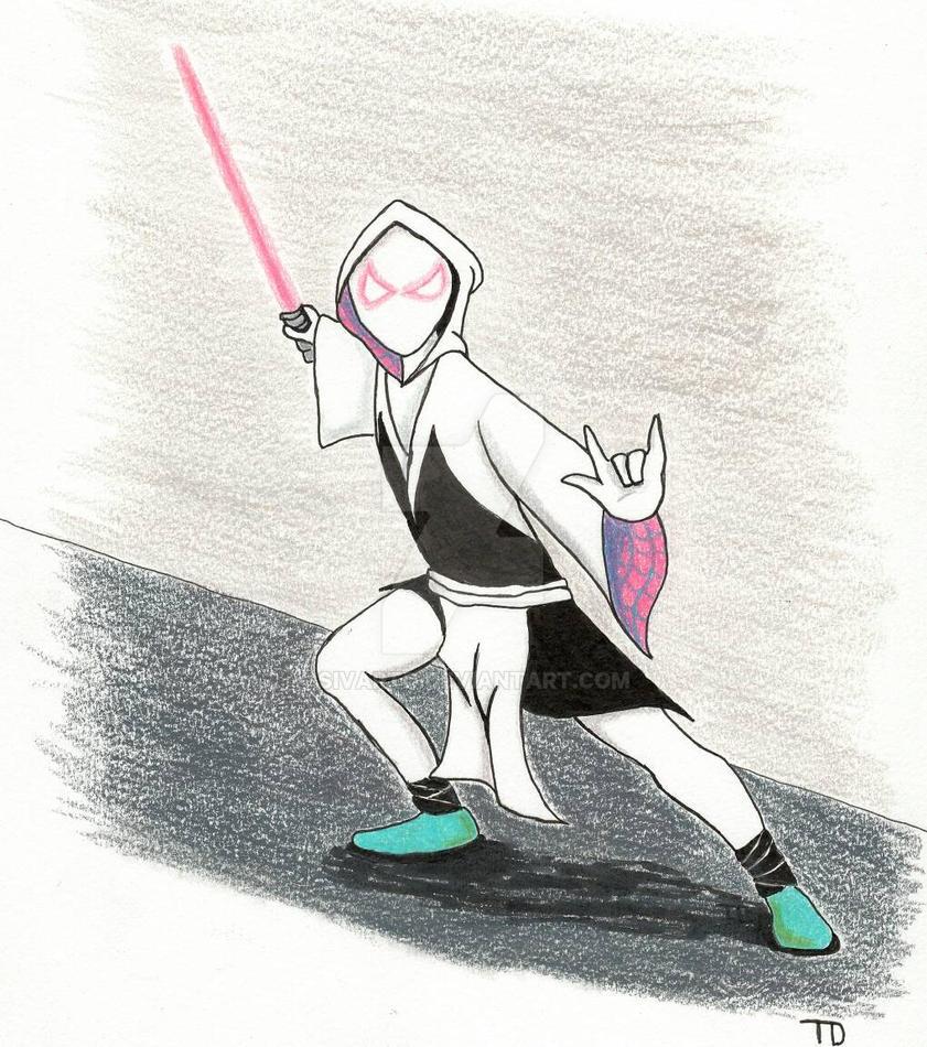 Jedi Spider-Gwen  by SivartD
