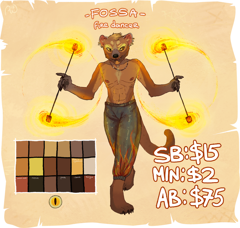 fossa anthro adopt auction [CLOSED] by sirinssong