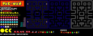 Pac-Man NES Colorized Sprite Sheet