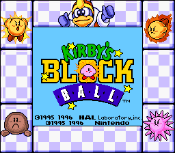 Kirby's Block Ball (Game Boy - Colorized) by SupaStarFox