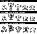 Pac-Man (Game Boy - Multiplayer Sprite Evolution)