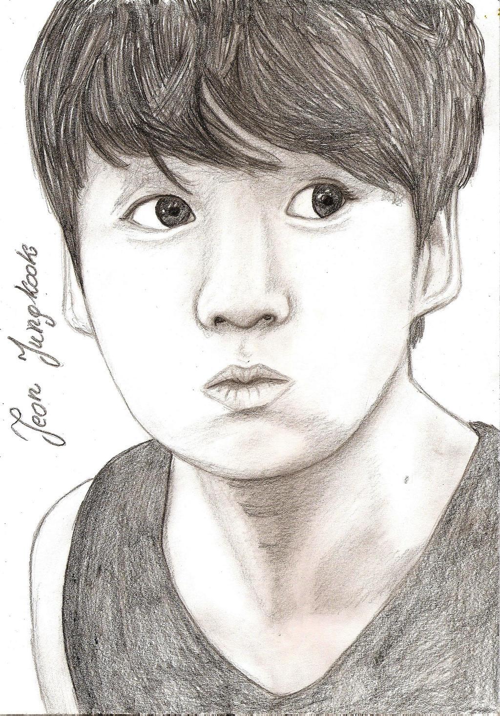 Jungkook Bts Drawings: Jeon Jungkook ~BTS By Wiwis1 On DeviantArt