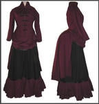 Uniform Bustle Gown
