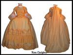 Apricot Robe a la Francaise