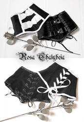 Black and white neck corsets by Stahlrose