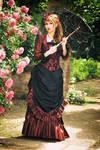 Springtime promenade - victorian bustle gown