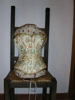 Golden China Brocade Corset by Stahlrose