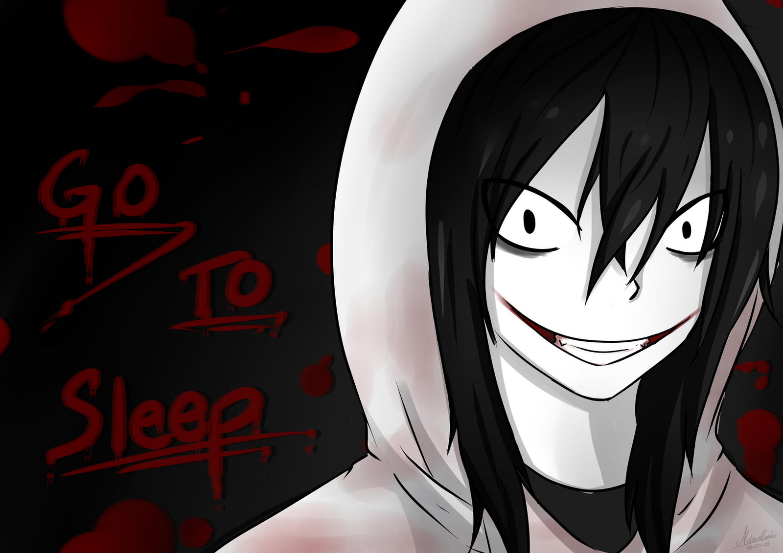 Go To Sleep - Jeff The Killer [SpeedPaint] by AldanaRociio ...