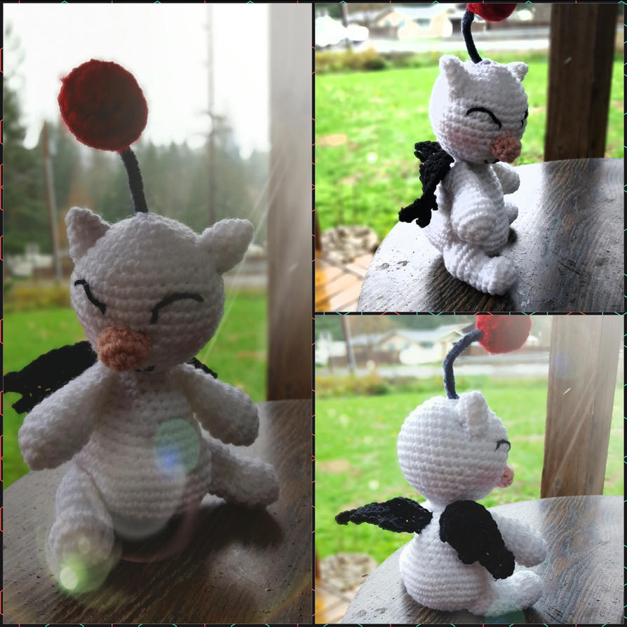 Final Fantasy: Moogle amigurumi, with pattern! by cheziah