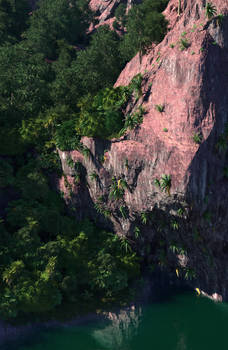 A cliff somewhere in Oceania