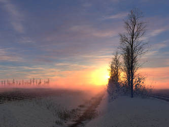 Dutch Winter Sunrise by Tangled-Universe