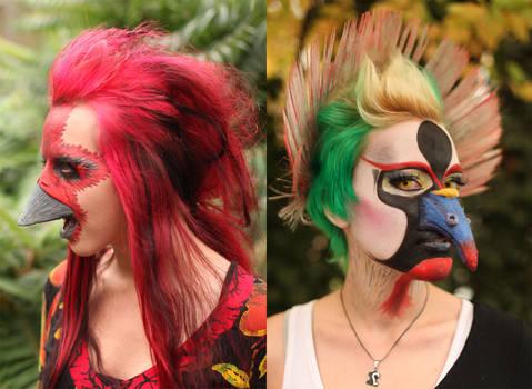 bird make-up (+making-of videos)