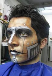 robot make-up (+ making-of video)