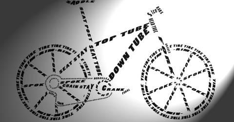Bike Typography by Iatefailure