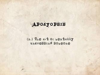 Apodyopsis by Iatefailure